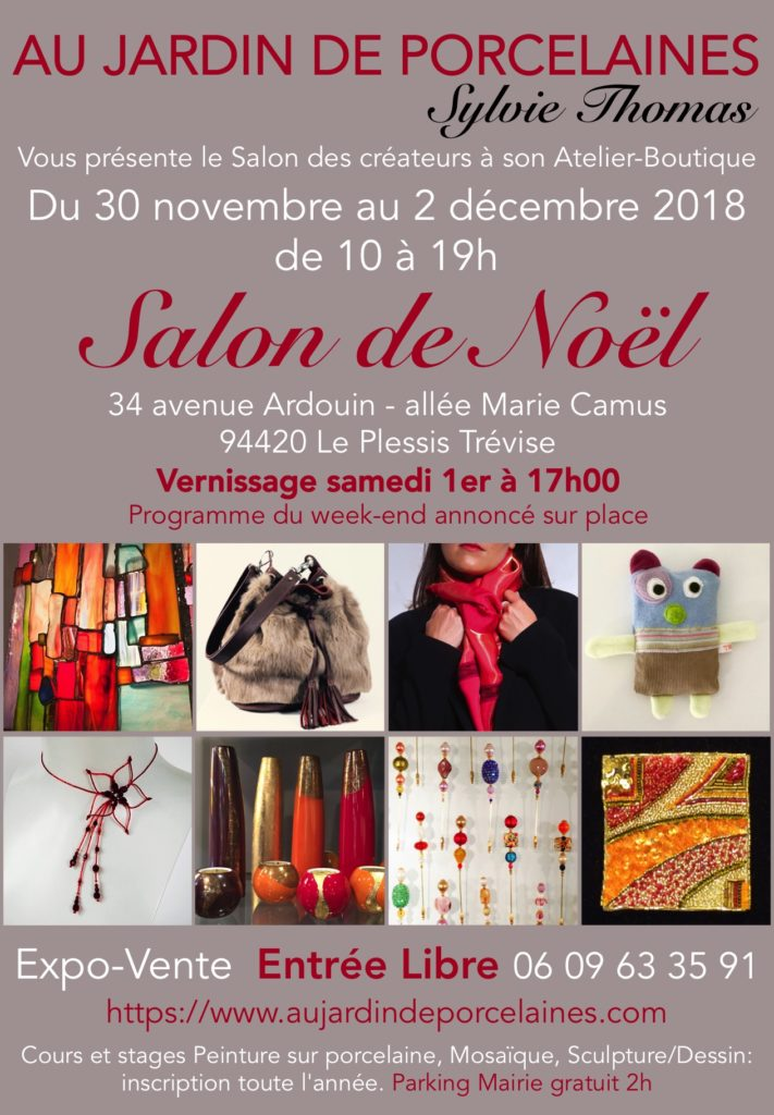 """Salon de Noël """"Au jardin de Porcelaine 2018"""